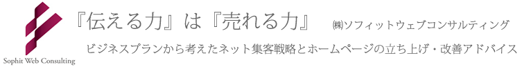 ホームページ集客方法アドバイス(横浜・東京) ソフィットウェブコンサルティング